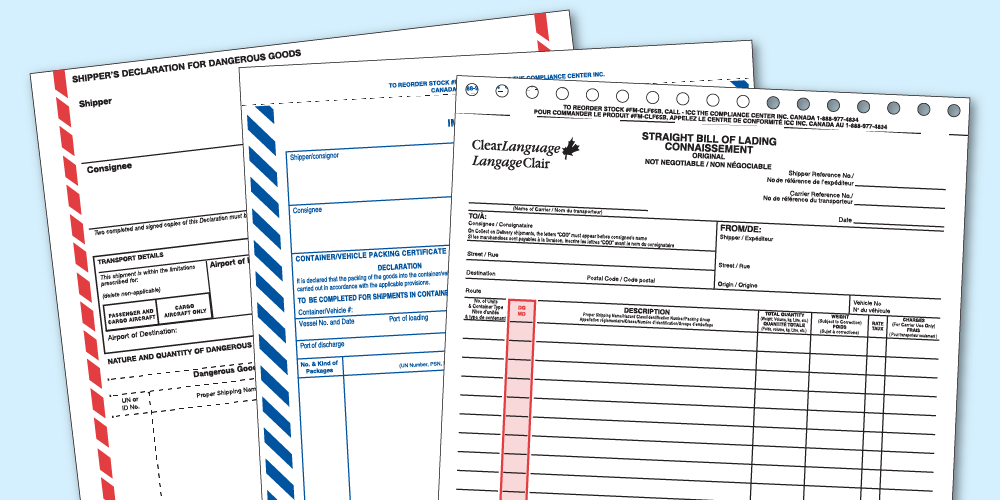 How to Document Weights on Dangerous Goods/HazMat Transport